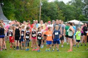 Run to Fall 5K start line